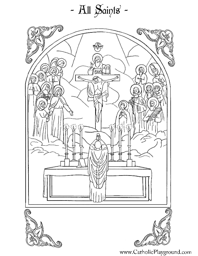 All Saints Coloring Page | Catholic Playground