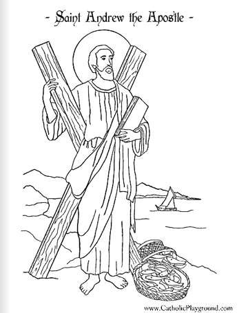 saint andrew the apostle coloring page