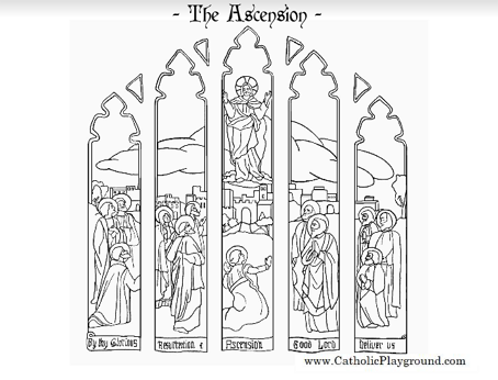 Feast Of The Ascension Coloring Page Catholic Playground Jesus Ascension Coloring Page