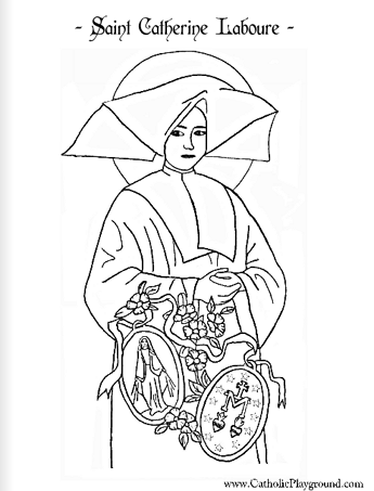 saint catherine laboure coloring page