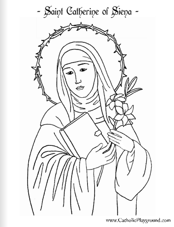 saint catherine of siena coloring page