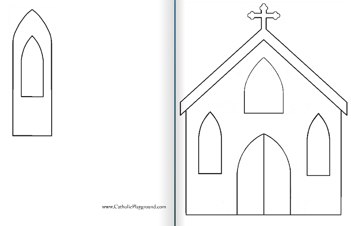 Church template ukrandiffusion index of church silhouette maxwellsz
