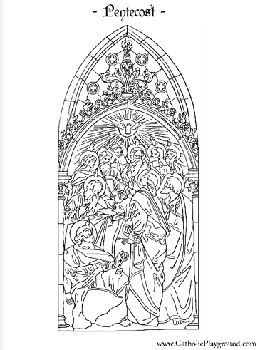 Pentecost coloring page – Catholic Playground