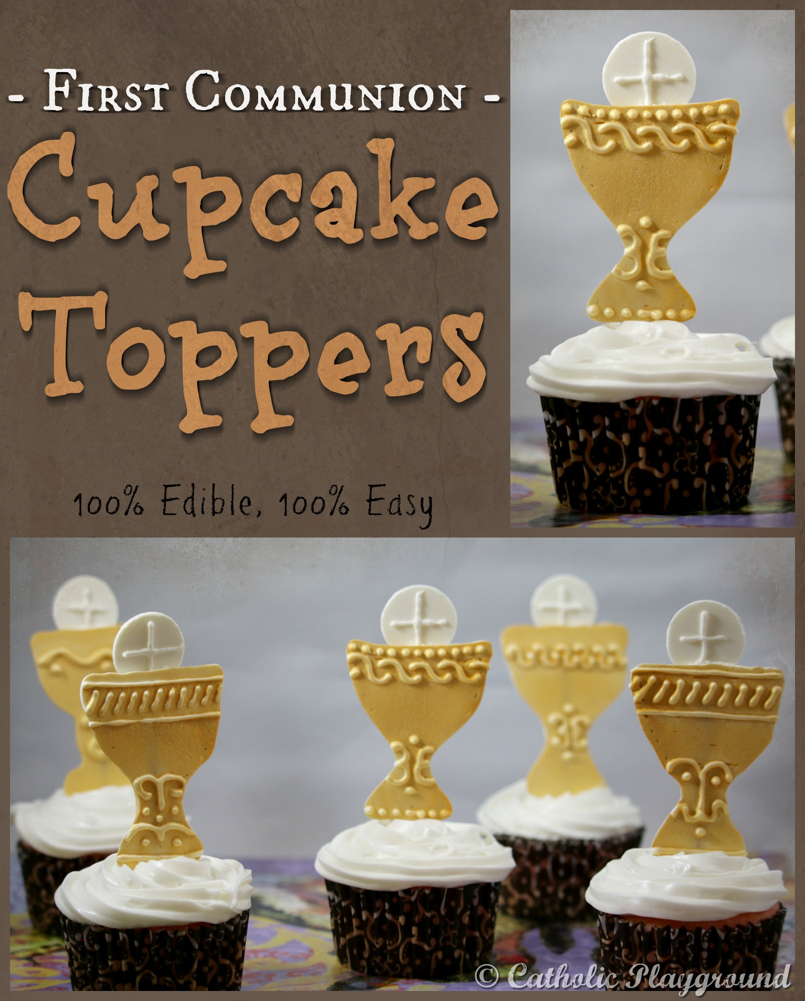 First Communion Cupcake Toppers – Catholic Playground