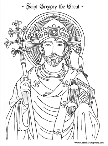 Saints Coloring Pages – Catholic Playground