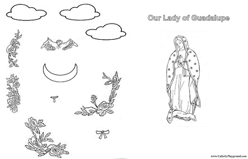 our lady of guadalupe activity sheet