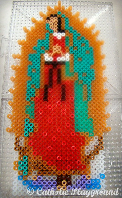 Our Lady Of Guadalupe Perler Bead Pattern Catholic Playground Custom Fuse Beads Patterns