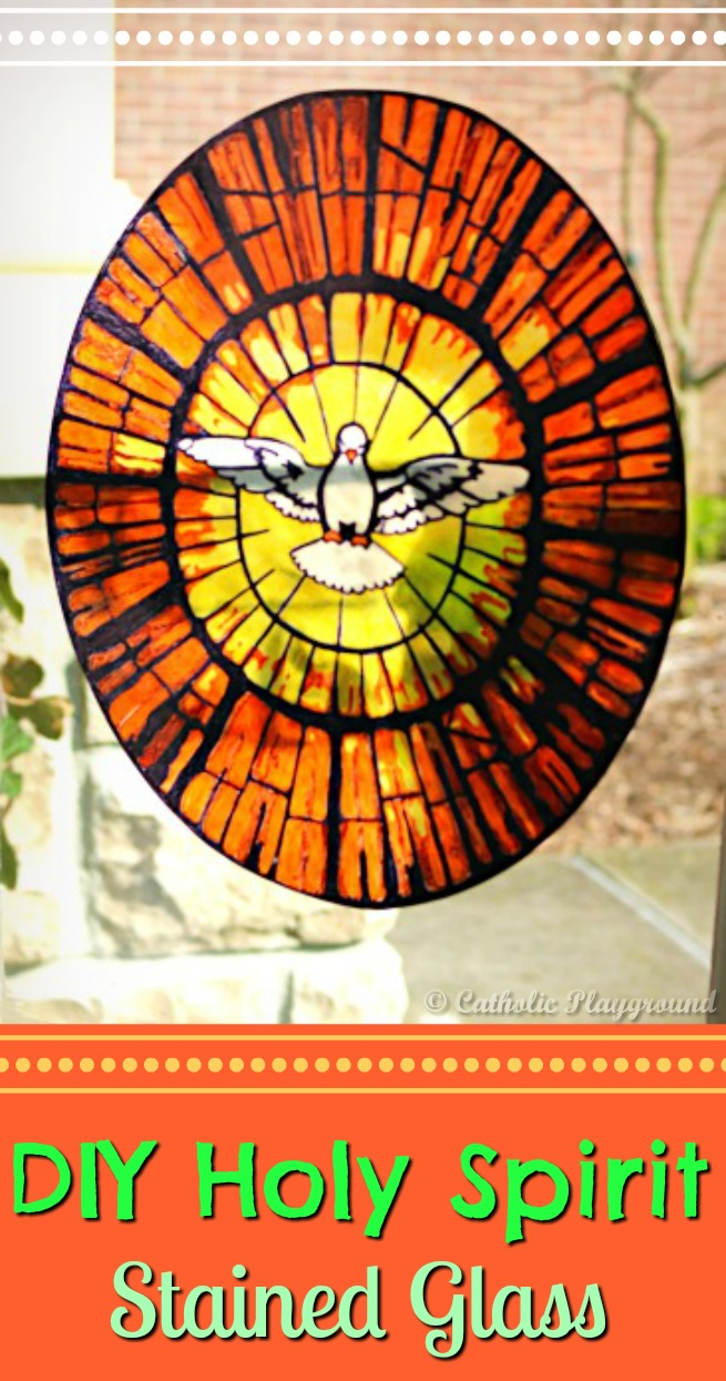 Stained glass templates catholic playground holy spirit stained glass maxwellsz