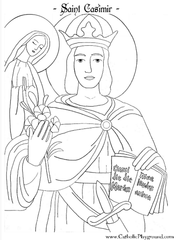 saint casimir coloring page