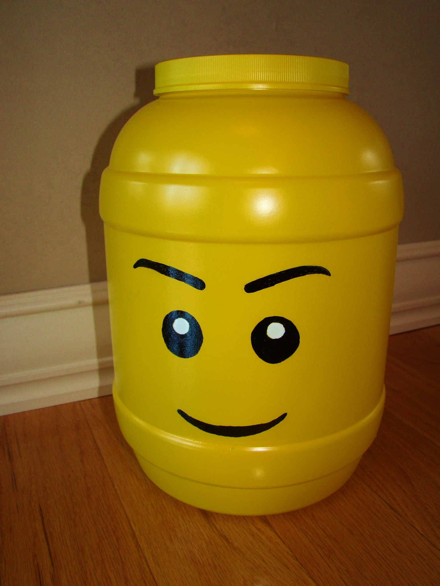 Crafts DIY Lego head storage container Catholic Playground