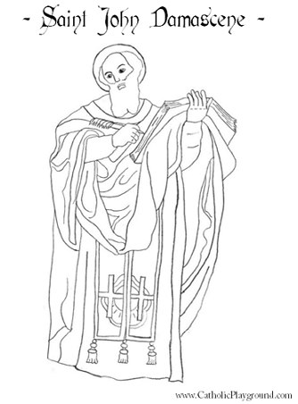 saint john damascene coloring page