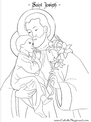 st joseph coloring page saints coloring pages catholic playground