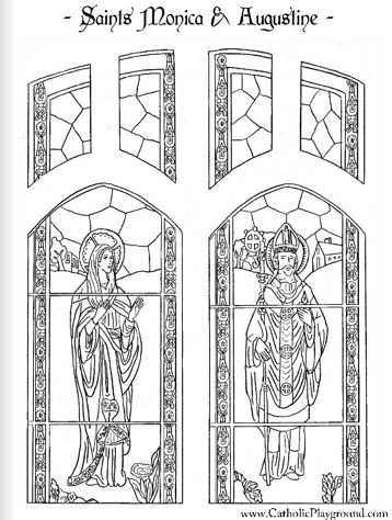 saints monica and augustine coloring page saint nicholas coloring page - St Patrick Coloring Page Catholic