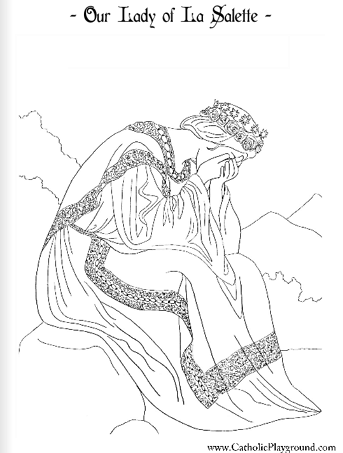 our lady la salette coloring page
