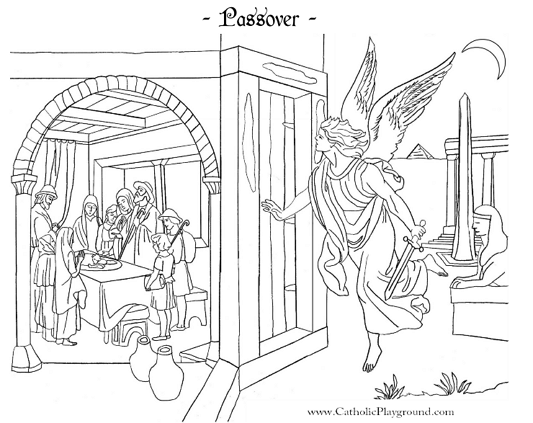 Passover Coloring Page Catholic Playground