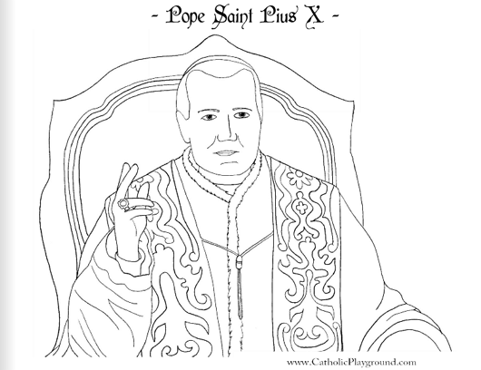 pope saint pius x coloring 2 saints coloring pages catholic playground on all time low coloring pages
