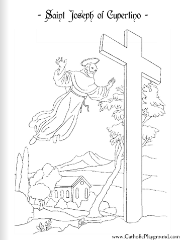 saint joseph of cupertino coloring page