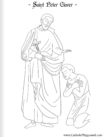 saint peter claver coloring page
