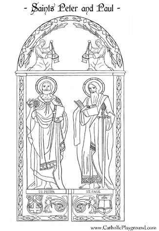 saints peter and paul coloring page - St Patrick Coloring Page Catholic