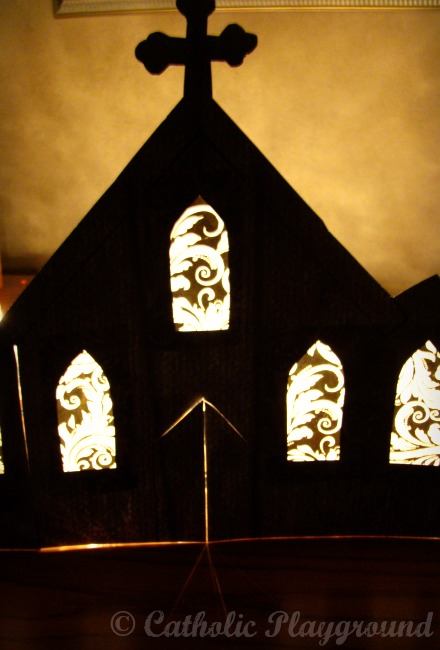 how to make a church out of paper