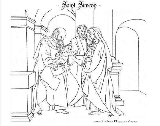 simeon and anna coloring pages - photo#16
