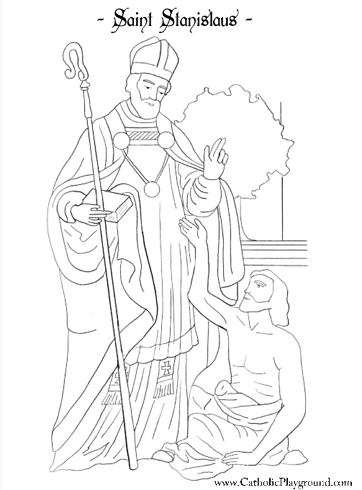 saint stanislaus coloring page