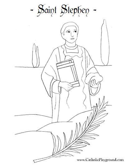 Saint Stephen Coloring Page
