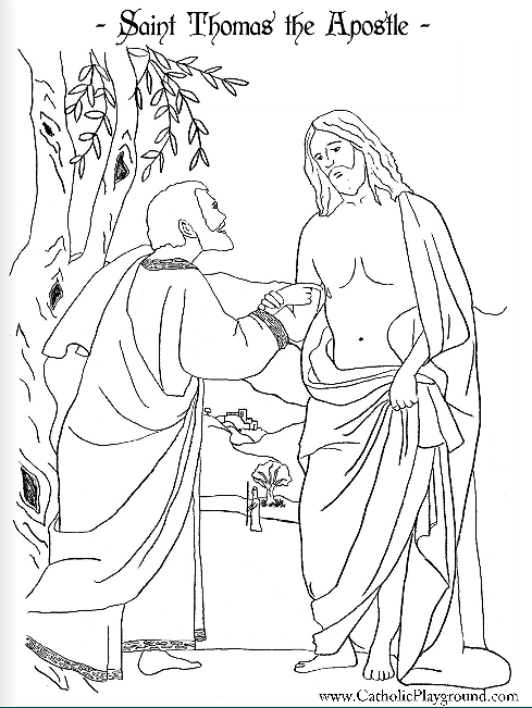 saint thomas the apostle coloring page