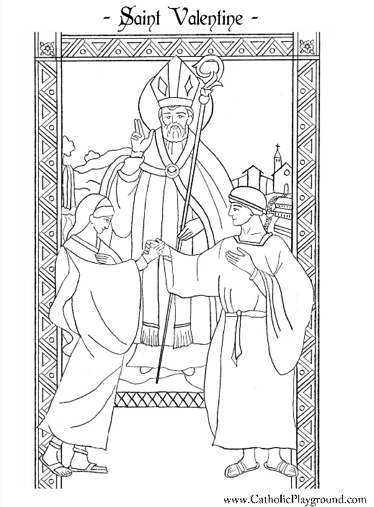 st valentine coloring pages catholic st valentine coloring page february 14th catholic