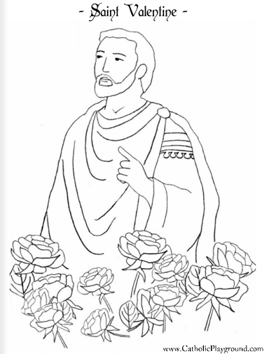 st valentine coloring pages catholic saints coloring pages catholic playground