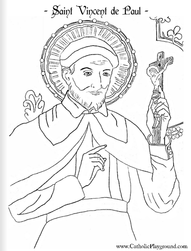 saint vincent de paul coloring page