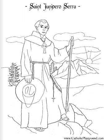 saint junipero serra coloring page - Father Coloring Page Catholic
