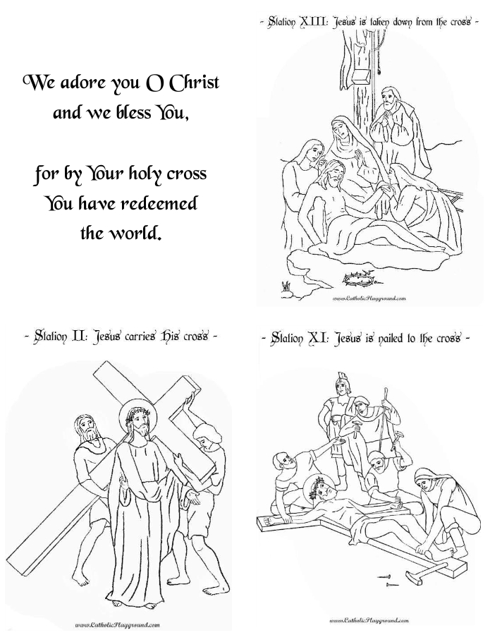 image relating to Printable Stations of the Cross referred to as Printable Stations of the Cross Booklet Catholic Playground
