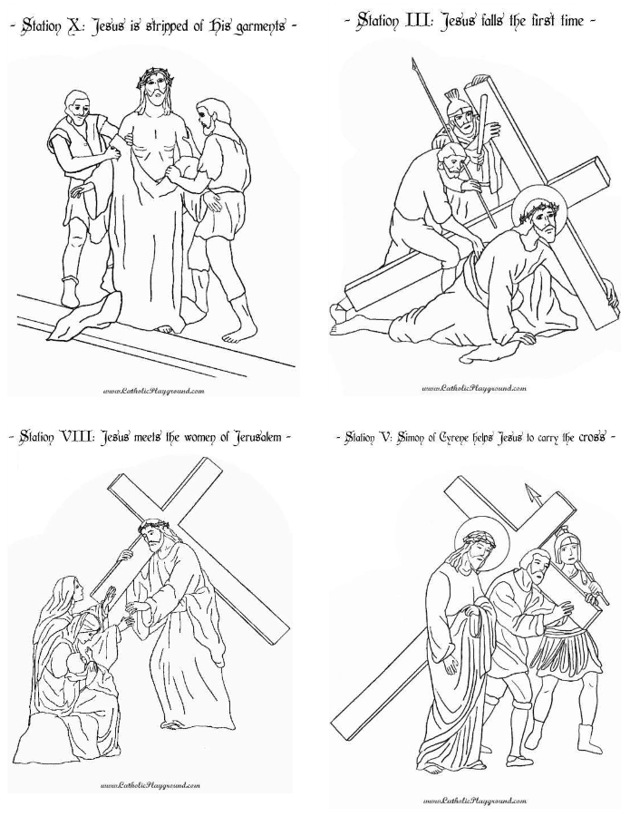 graphic about Printable Stations of the Cross called Printable Stations of the Cross Booklet Catholic Playground