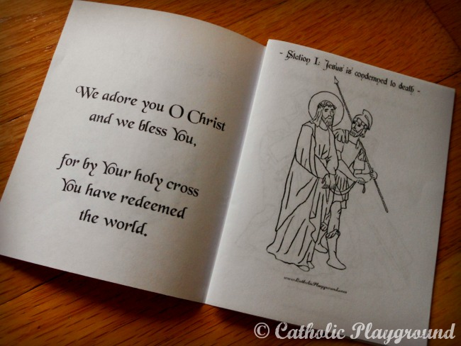picture regarding Stations of the Cross for Youth Printable identify Stations of the Cross Booklet Catholic Playground
