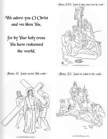 photograph relating to Stations of the Cross Prayers Printable titled Stations of the Cross Booklet Catholic Playground