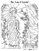 our lady of lourdes coloring page catholic playground