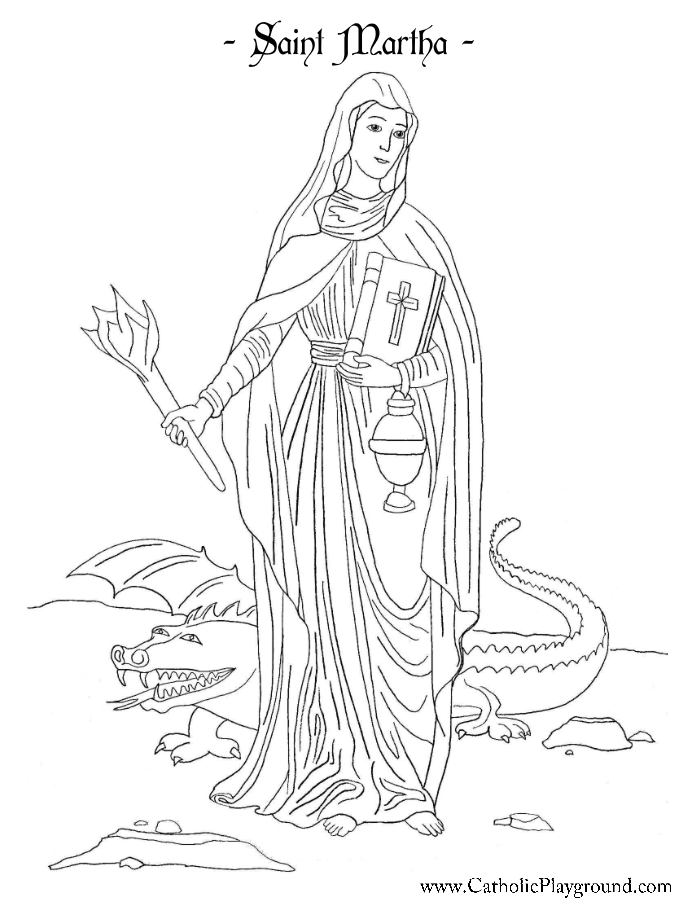 St Martha Coloring Page St Martha Coloring Page - Free Printable ...