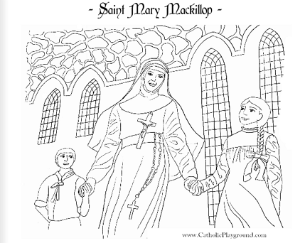 saint mary mackillop coloring page