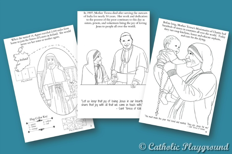 Digital Download: Mother Teresa Coloring and Activity Book ...