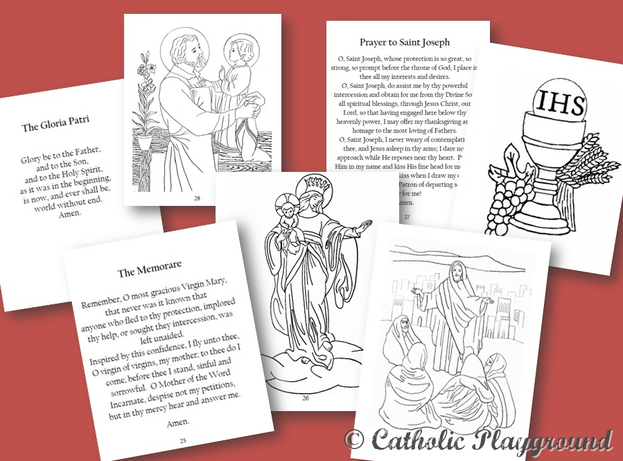 picture regarding Printable Catholic Prayers called Catholic Prayers Booklet Catholic Playground