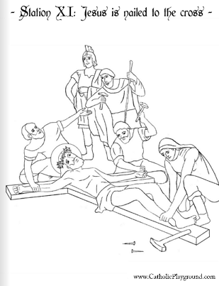 The Stations Of The Cross In Coloring Pages Catholic Playground