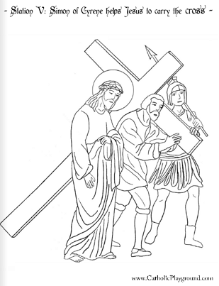 Stations Of The Cross Coloring Pages Amusing The Stations Of The Cross In Coloring Pages  Catholic Playground Design Ideas