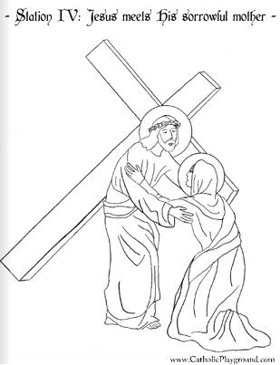 Stations of the cross colouring book