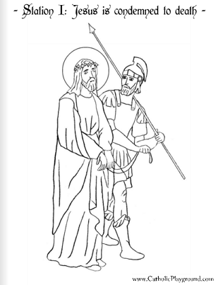 Stations Of The Cross Coloring Pages Inspiration The Stations Of The Cross In Coloring Pages  Catholic Playground Decorating Inspiration