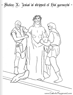 Stations Of The Cross Coloring Pages Delectable The Stations Of The Cross In Coloring Pages  Catholic Playground Inspiration Design