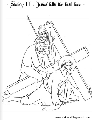 Stations Of The Cross Coloring Pages Simple The Stations Of The Cross In Coloring Pages  Catholic Playground 2017