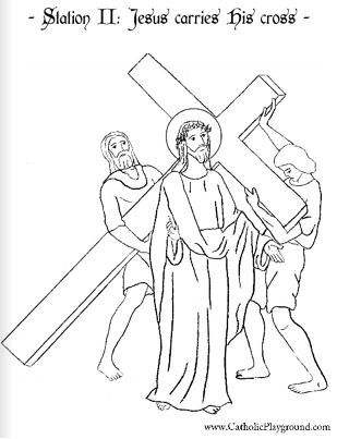 second station of the cross coloring page