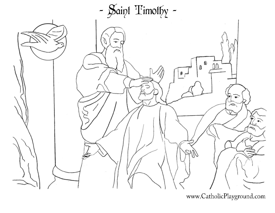 Saint Timothy Coloring Page