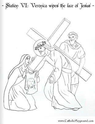 The Stations of the Cross in coloring pages – Catholic Playground